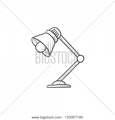 Table lamp vector sketch icon isolated on background. Hand drawn Table lamp icon. Table lamp sketch icon for infographic, website or app.