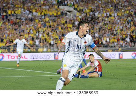 James Rodriguez Celebrates A Goal Scored