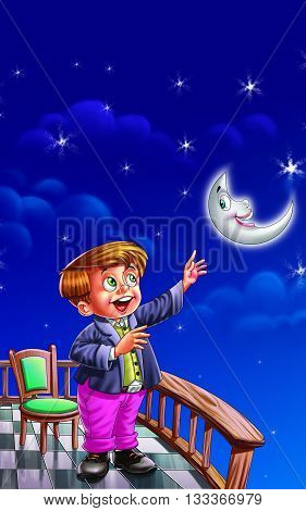 I See Moon in the sky  Rhyme for Kids
