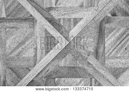 Worn Out Wooden Floor Of Castle Hall. Light Wood Flooring