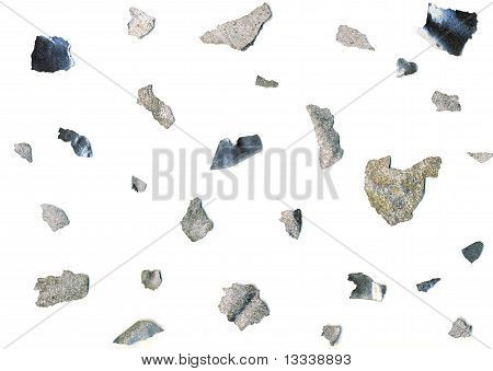 Close up of thin metal pieces