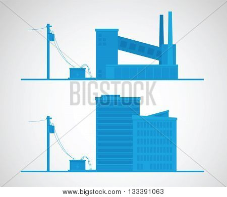 Energy concept. Electricity vector illustration. Industry background