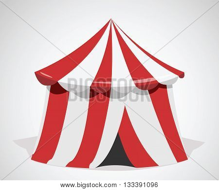 Marquee. Circus vector icon on grey background
