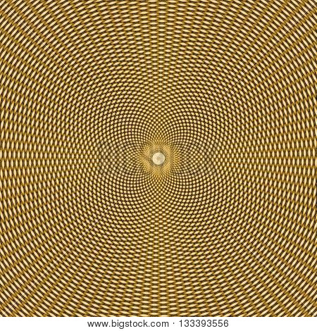 abstract gold hypnotic pattern, yellow and black