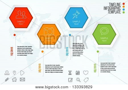 Timeline Infographic Template For Modern Infographics