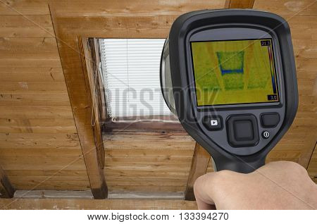 Attic Window Thermal Leak Permeability