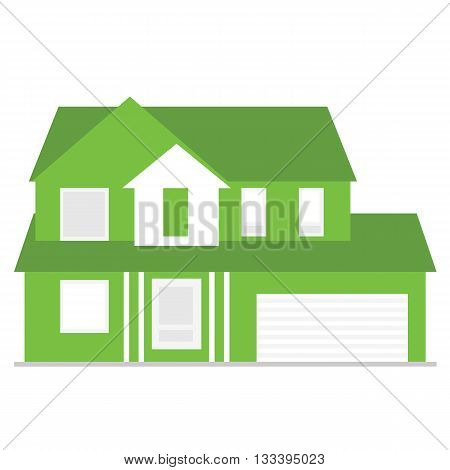 House. Detailed vector illustration isolated on white background.