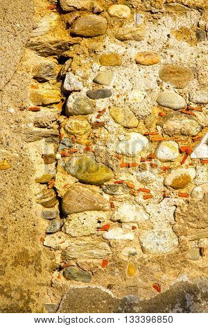 Milan  In Italy Old Church Concrete Wall  Brick    Stone