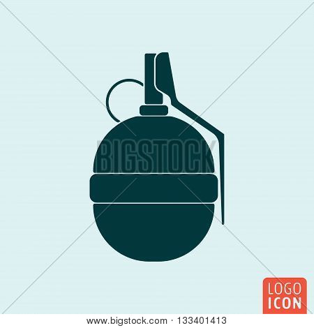 Grenade icon. Hand grenade isolated. Vector illustration