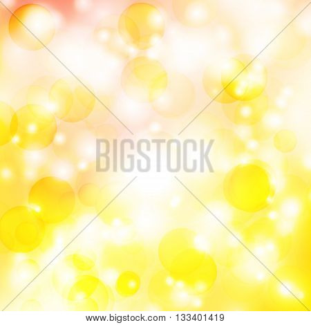 abstract background with orange star sun rays