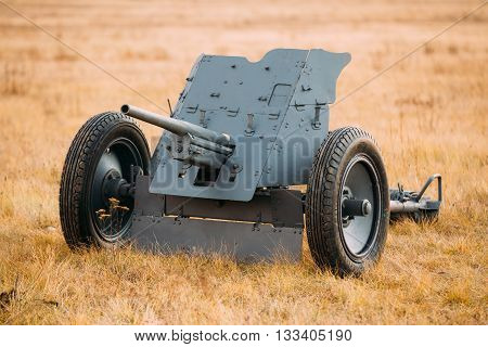 German Anti-tank Gun Pak 36 In Field