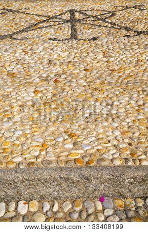 Wall Milan  In Italy   Mosaic Stone