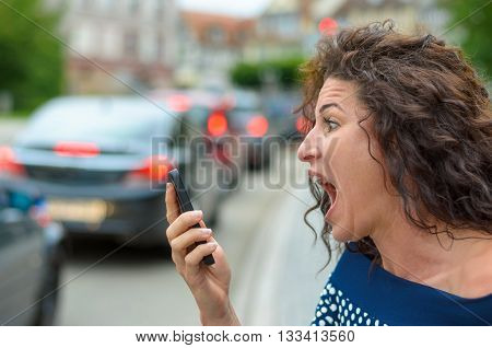 Aghast Young Woman With A Horrified Expression