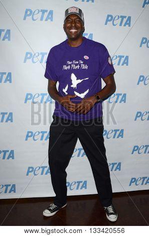 LOS ANGELES - JUN 7:  John Salley at the Peta Celebrates Prince on his Birthday at the Peta's Bob Barker Building on June 7, 2016 in Los Angeles, CA