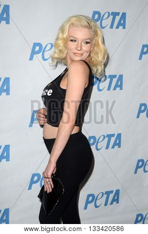 LOS ANGELES - JUN 7:  Courtney Stodden at the Peta Celebrates Prince on his Birthday at the Peta's Bob Barker Building on June 7, 2016 in Los Angeles, CA