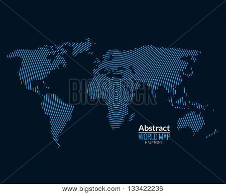 3d abstract world map vector photo free trial bigstock 3d abstract world map planet lines global radial halftone concept gumiabroncs Gallery