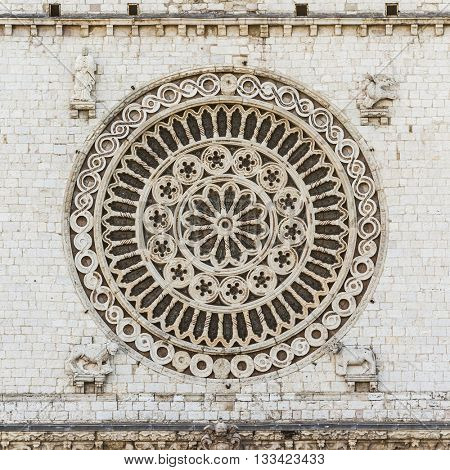 An image of the window rose from Assisi