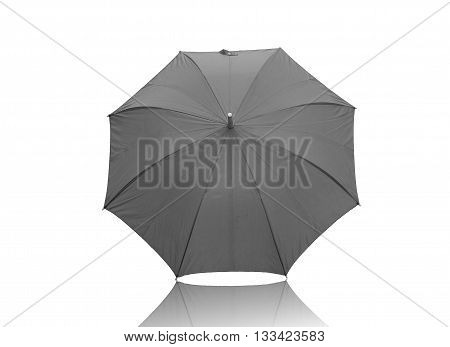 umbrella black color isolated on white background.