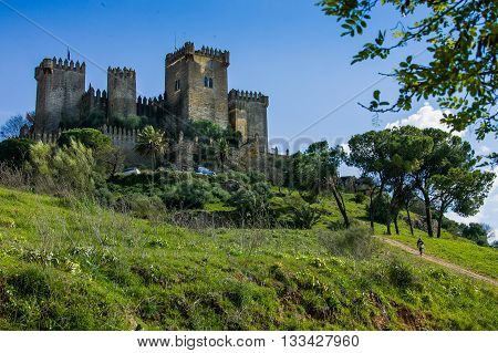 Castillo Almodovar Cordoba Spain external view of the castle