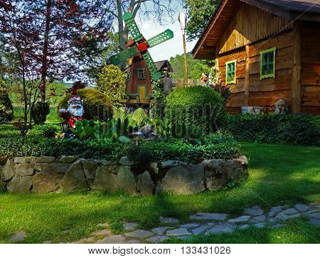 garden house garden and rock garden decoration