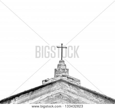 Wall    Abstract     Sacred  Cross In Italy Europe And The Sky Background