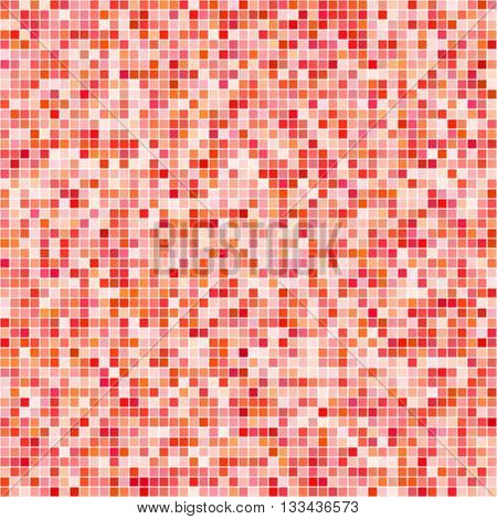 Red tiles mosaic pattern background vector with different transparency