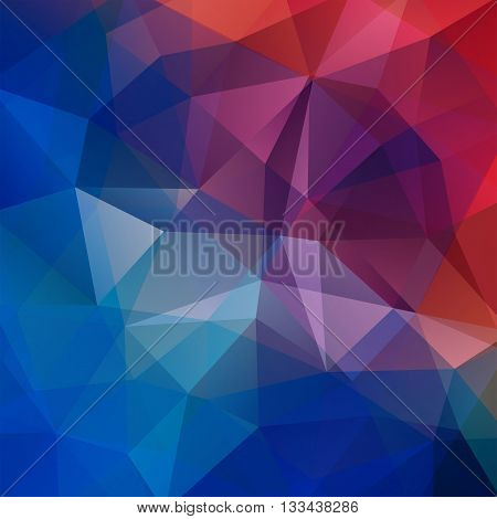 Background Of Geometric Shapes. Colorful Mosaic Pattern. Vector Eps 10. Vector Illustration. Red, Br