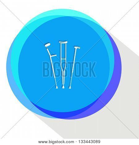 crutches. Internet template. Vector icon.
