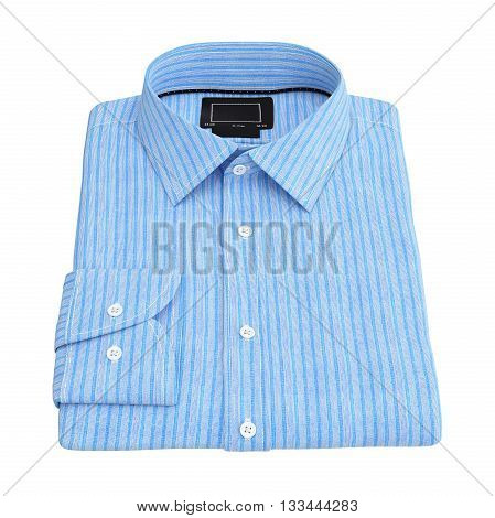 Men's folded stripes shirt color blue. 3D graphic