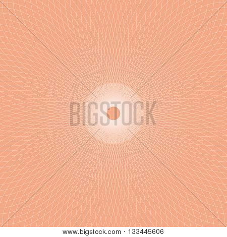 Abstract bright background with round ornament. Vector background