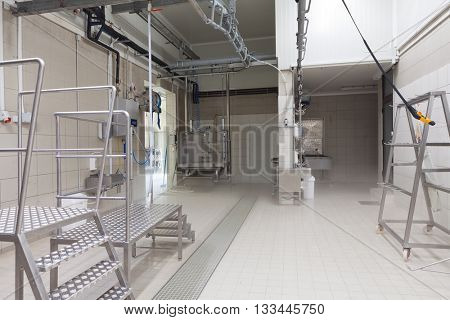 Interior of a slaughterhouse