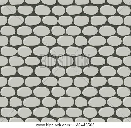 Seamless cartoon stone texture. Vector illustration. Pattern