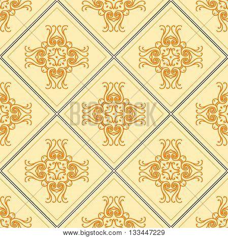 Elegant geometric background made of floral decorative pattern. Vector illustration