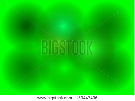 Green abstract background  , green circles ,