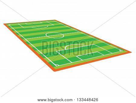 soccer field stadium - sport ground illustration