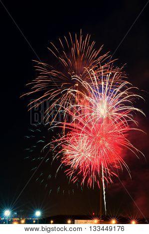 Image of Spectacular fireworks celebration show
