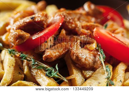 Food Tasty Rustic Homemade Meal Portion Cuisine Menu Concept