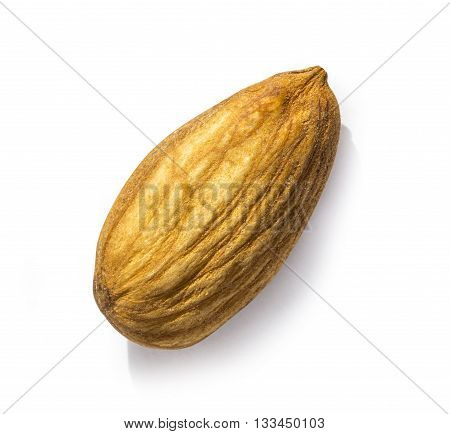 almonds isolated on the white background with clipping path
