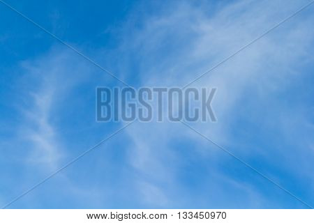 Blue sky with a white Fleecy clouds