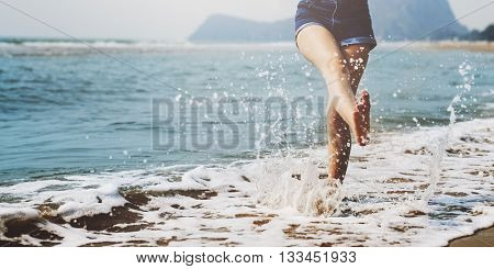 Chill Peace Summer Coast Vacation Journey Calm Concept