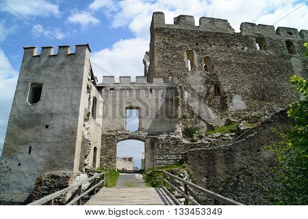 Ruins of castle Kirchschlag in Lower Austria.