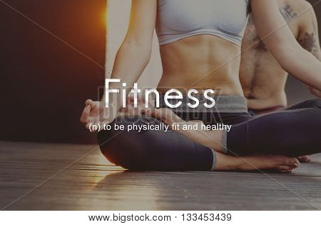 Fitness Outdoors Exercise People Graphic Concept