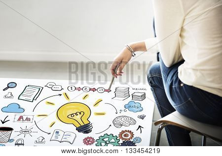 Planning Ideas Innovation Creativity Knowledge Vision Concept