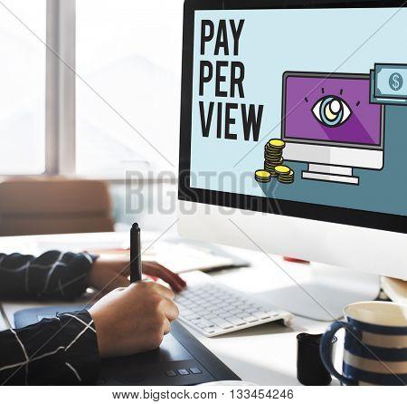 Pay-Per-View Content Magnifier Observation Concept