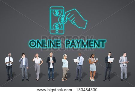 Payment Banking Transaction Accounting E-Payment Concept