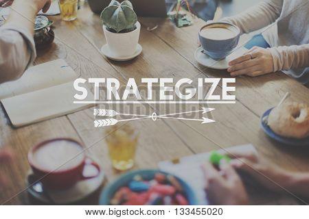 Strategize Target Mission Objective Graphics Concept