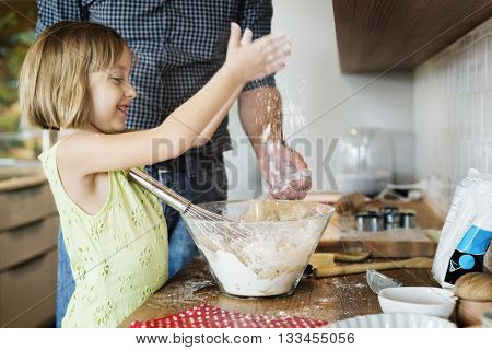 Cooking Kids Cookies Baking Preparation Concept