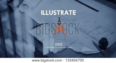 Illustrate Draw Imagination Creativity Inspiration Concept