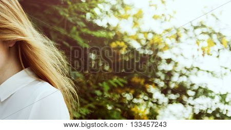 Girl Casual Activity Chilling Relaxation Outdoor Concept