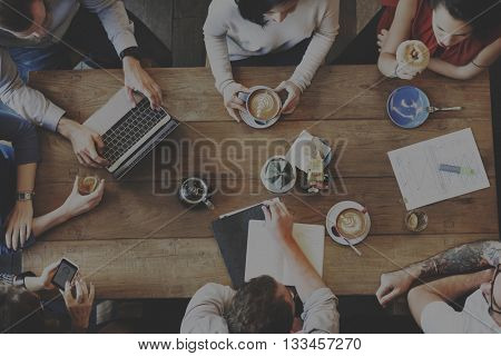 Brainstorming Business Information Office Team Concept